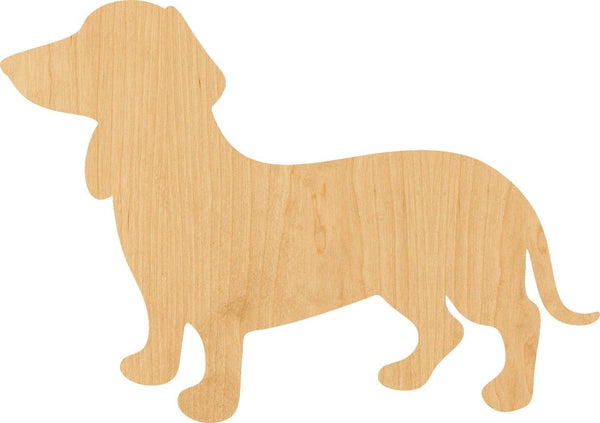 Wiener Wooden Laser Cut Out Shape - Great for Crafting - Hobbyist - D.I.Y. Projects