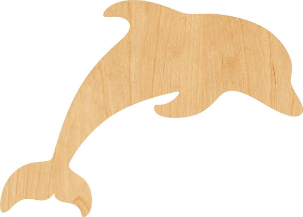 Dolphin Wooden Laser Cut Out Shape - Great for Crafting - Hobbyist - D.I.Y. Projects