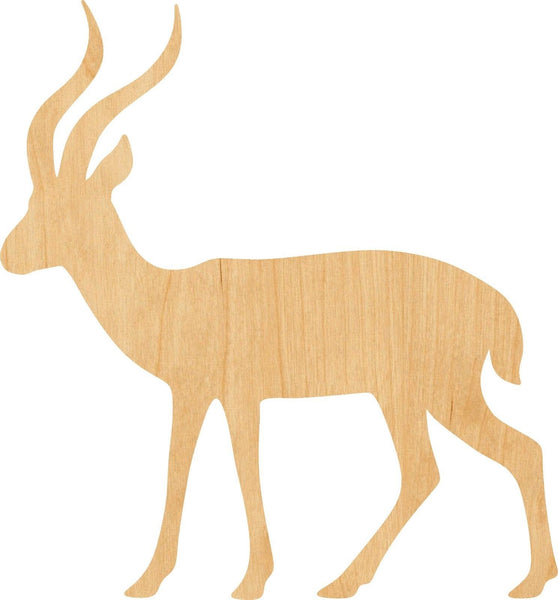Gazelle Wooden Laser Cut Out Shape - Great for Crafting - Hobbyist - D.I.Y. Projects