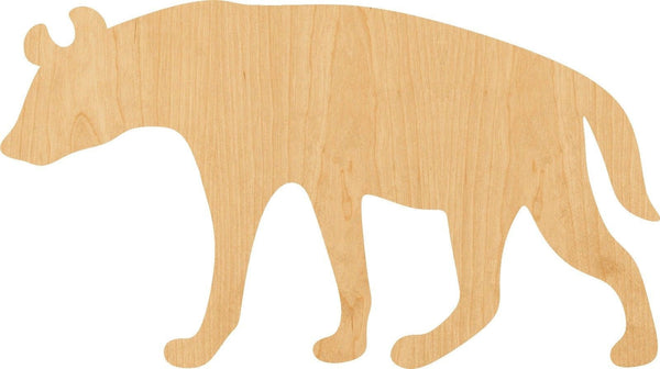 Hyena Wooden Laser Cut Out Shape - Great for Crafting - Hobbyist - D.I.Y. Projects