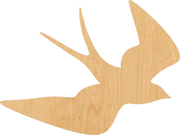 Swallow Wooden Laser Cut Out Shape - Great for Crafting - Hobbyist - D.I.Y. Projects