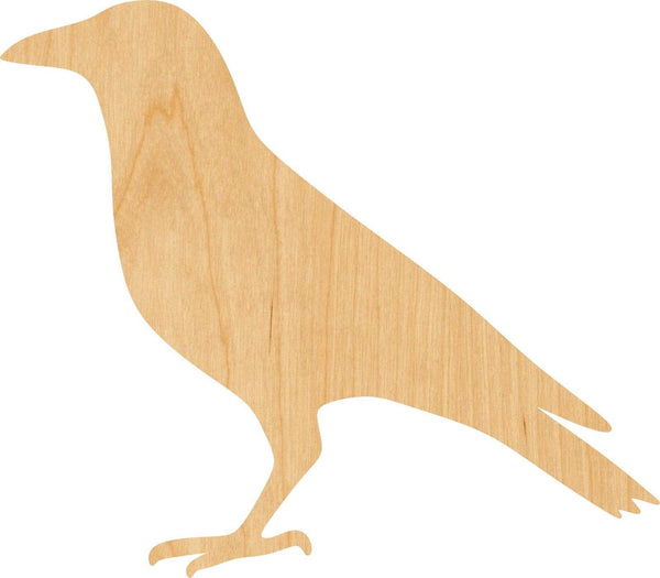 Crow Wooden Laser Cut Out Shape - Great for Crafting - Hobbyist - D.I.Y. Projects
