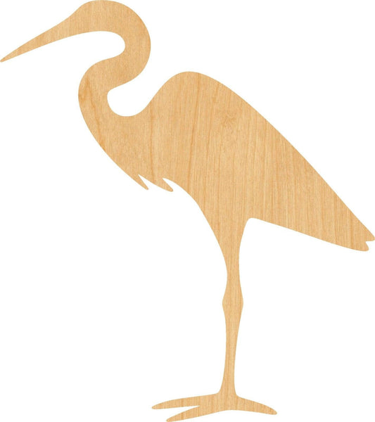 Egret Wooden Laser Cut Out Shape - Great for Crafting - Hobbyist - D.I.Y. Projects