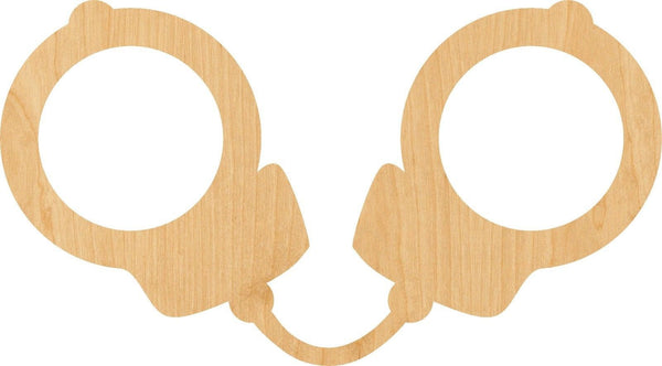 Handcuff Wooden Laser Cut Out Shape - Great for Crafting - Hobbyist - D.I.Y. Projects