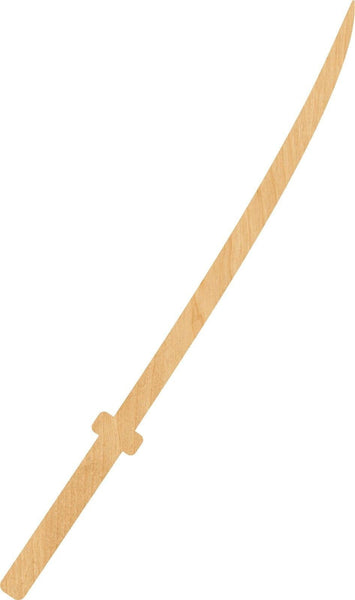 Samurai Sword Wooden Laser Cut Out Shape - Great for Crafting - Hobbyist - D.I.Y. Projects