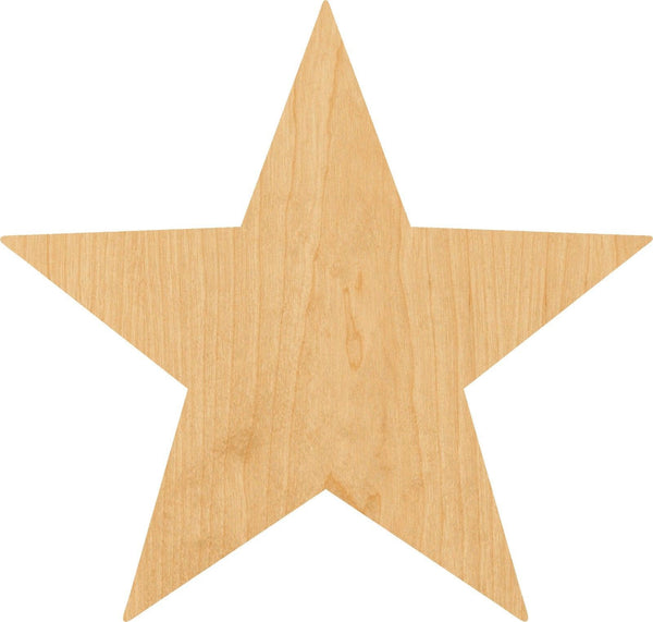 Star 2 Wooden Laser Cut Out Shape - Great for Crafting - Hobbyist - D.I.Y. Projects