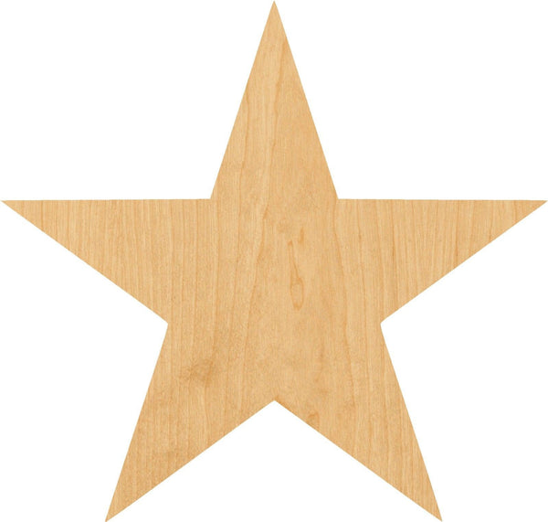 Star Wooden Laser Cut Out Shape - Great for Crafting - Hobbyist - D.I.Y. Projects
