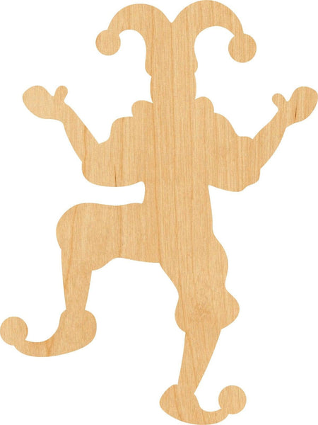 Jester Wooden Laser Cut Out Shape - Great for Crafting - Hobbyist - D.I.Y. Projects