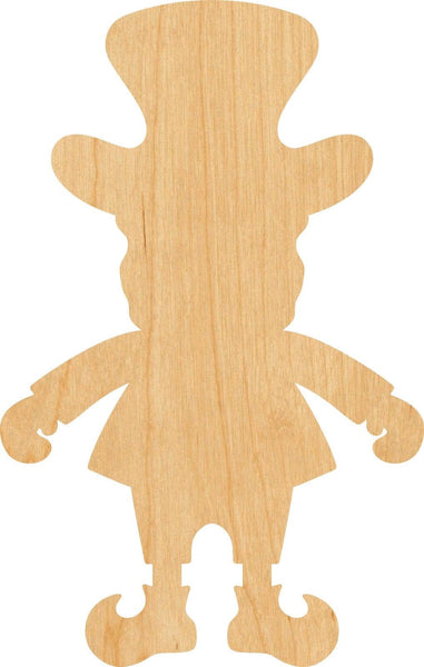 Leprechaun Wooden Laser Cut Out Shape - Great for Crafting - Hobbyist - D.I.Y. Projects