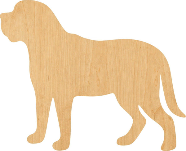 Mastiff Wooden Laser Cut Out Shape - Great for Crafting - Hobbyist - D.I.Y. Projects