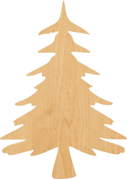 Christmas Tree 2 Wooden Laser Cut Out Shape - Great for Crafting - Hobbyist - D.I.Y. Projects