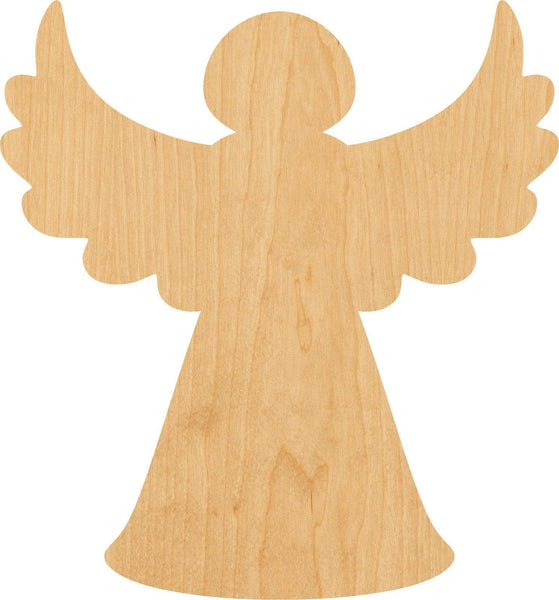 Christmas Tree Angel Wooden Laser Cut Out Shape - Great for Crafting - Hobbyist - D.I.Y. Projects