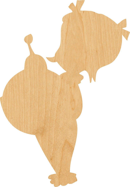Cindy Lou Who Wooden Laser Cut Out Shape - Great for Crafting - Hobbyist - D.I.Y. Projects