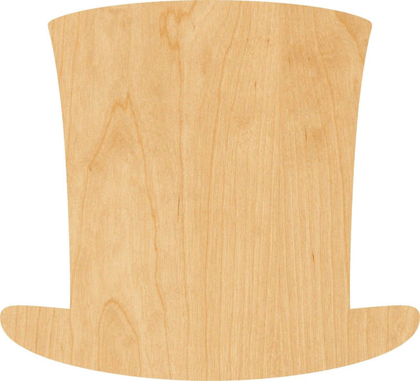 Abraham Lincoln Hat Wooden Laser Cut Out Shape - Great for Crafting - Hobbyist - D.I.Y. Projects