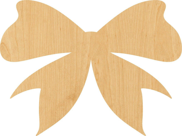 Bow Wooden Laser Cut Out Shape - Great for Crafting - Hobbyist - D.I.Y. Projects