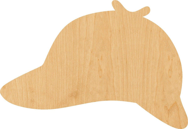 Detective Hat Wooden Laser Cut Out Shape - Great for Crafting - Hobbyist - D.I.Y. Projects