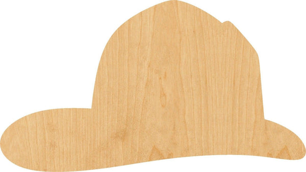 Fireman Hat Wooden Laser Cut Out Shape - Great for Crafting - Hobbyist - D.I.Y. Projects