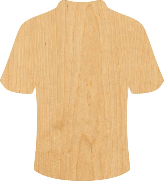 Football Jersey Wooden Laser Cut Out Shape - Great for Crafting - Hobbyist - D.I.Y. Projects