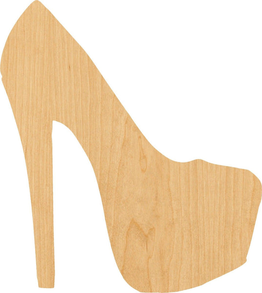High Heel 3 Wooden Laser Cut Out Shape - Great for Crafting - Hobbyist - D.I.Y. Projects