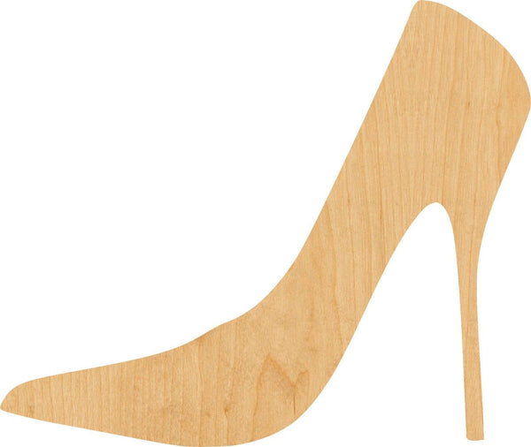 High Heel Shoe 1 Wooden Laser Cut Out Shape - Great for Crafting - Hobbyist - D.I.Y. Projects