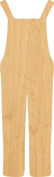 Overalls Wooden Laser Cut Out Shape - Great for Crafting - Hobbyist - D.I.Y. Projects