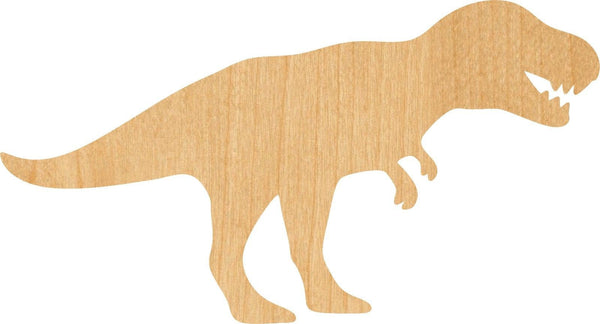 T Rex 1 Wooden Laser Cut Out Shape - Great for Crafting - Hobbyist - D.I.Y. Projects