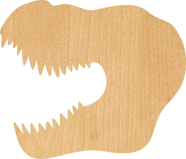 T Rex 2 Wooden Laser Cut Out Shape - Great for Crafting - Hobbyist - D.I.Y. Projects