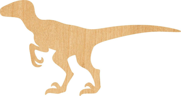 Velociraptor Wooden Laser Cut Out Shape - Great for Crafting - Hobbyist - D.I.Y. Projects