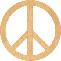 Peace Sign Wooden Laser Cut Out Shape - Great for Crafting - Hobbyist - D.I.Y. Projects