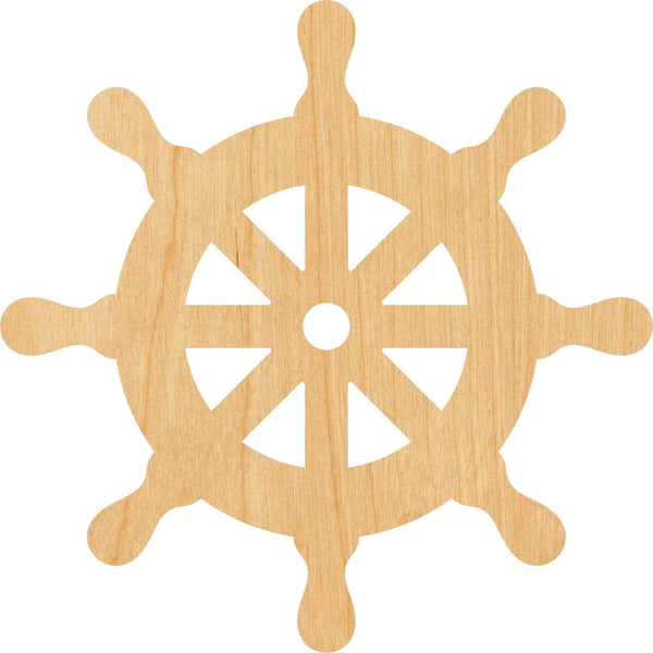 Steering Wheel Wooden Laser Cut Out Shape - Great for Crafting - Hobbyist - D.I.Y. Projects