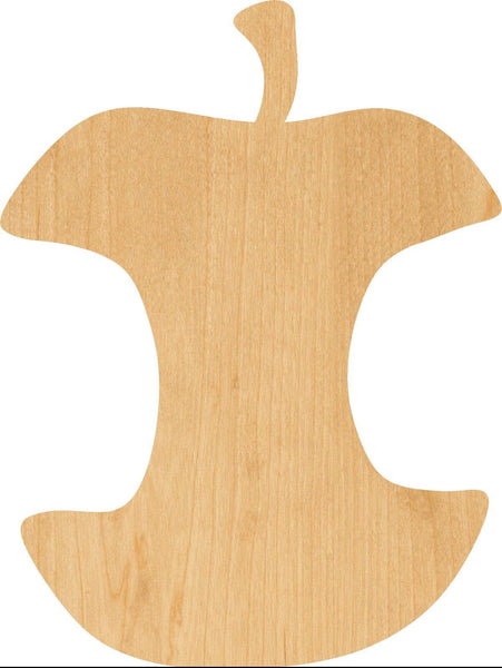 Apple Core Wooden Laser Cut Out Shape - Great for Crafting - Hobbyist - D.I.Y. Projects