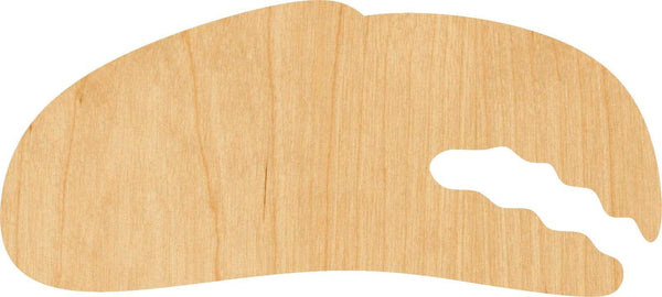 Crab Claw Wooden Laser Cut Out Shape - Great for Crafting - Hobbyist - D.I.Y. Projects
