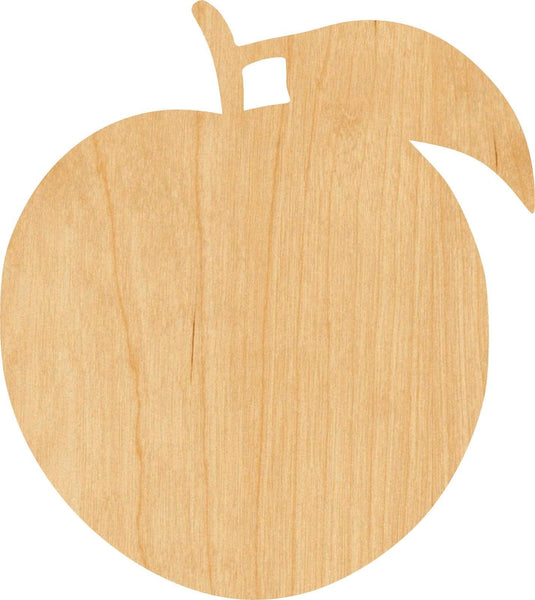 Peach 3 Wooden Laser Cut Out Shape - Great for Crafting - Hobbyist - D.I.Y. Projects