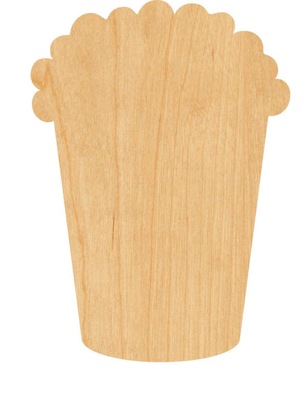 Popcorn Wooden Laser Cut Out Shape - Great for Crafting - Hobbyist - D.I.Y. Projects