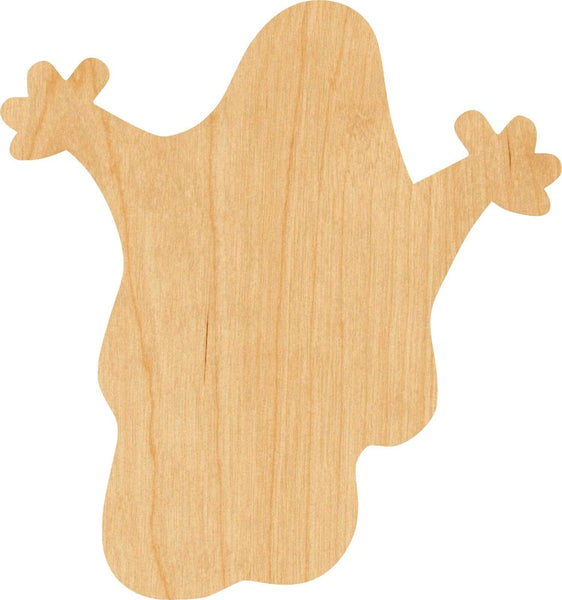 Ghost 2 Wooden Laser Cut Out Shape - Great for Crafting - Hobbyist - D.I.Y. Projects