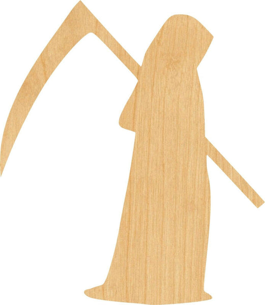 Grim Reaper 2 Wooden Laser Cut Out Shape - Great for Crafting - Hobbyist - D.I.Y. Projects