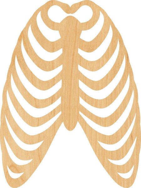 Ribcage Wooden Laser Cut Out Shape - Great for Crafting - Hobbyist - D.I.Y. Projects