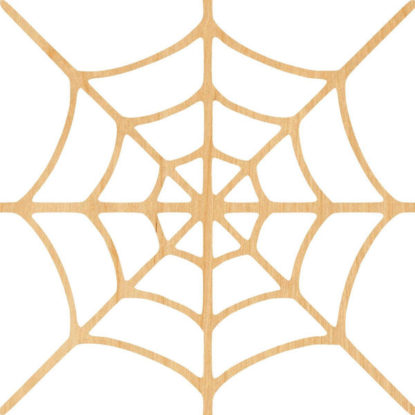 Spider Web 1 Wooden Laser Cut Out Shape - Great for Crafting - Hobbyist - D.I.Y. Projects