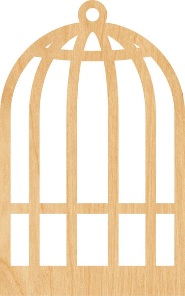 Bird Cage Wooden Laser Cut Out Shape - Great for Crafting - Hobbyist - D.I.Y. Projects
