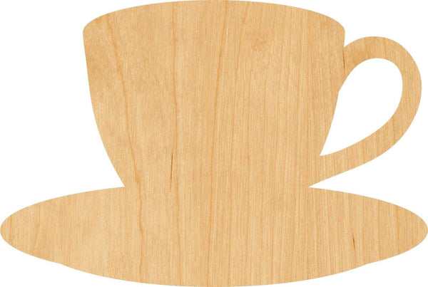 Coffee Cup Wooden Laser Cut Out Shape - Great for Crafting - Hobbyist - D.I.Y. Projects