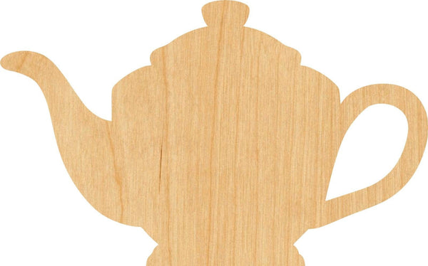 Tea Pot 1 Wooden Laser Cut Out Shape - Great for Crafting - Hobbyist - D.I.Y. Projects