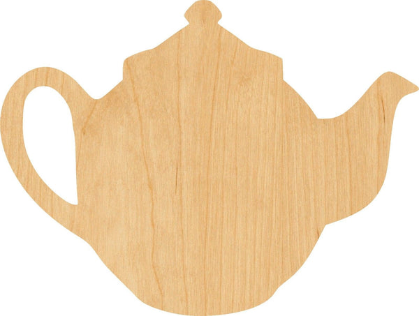 Tea Pot 2 Wooden Laser Cut Out Shape - Great for Crafting - Hobbyist - D.I.Y. Projects