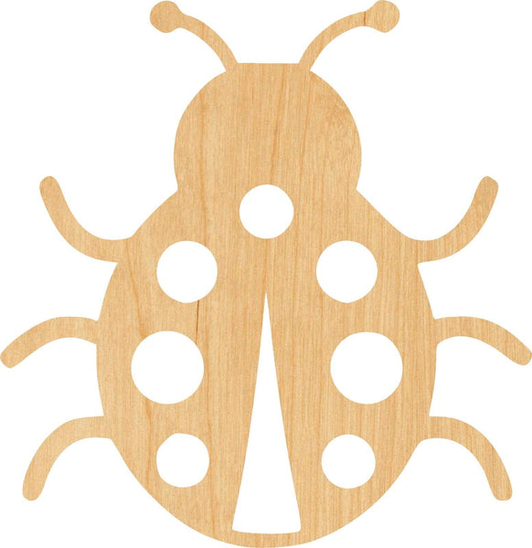 Lady Bug Wooden Laser Cut Out Shape - Great for Crafting - Hobbyist - D.I.Y. Projects