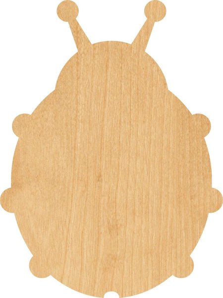 Lady Bug 2 Wooden Laser Cut Out Shape - Great for Crafting - Hobbyist - D.I.Y. Projects