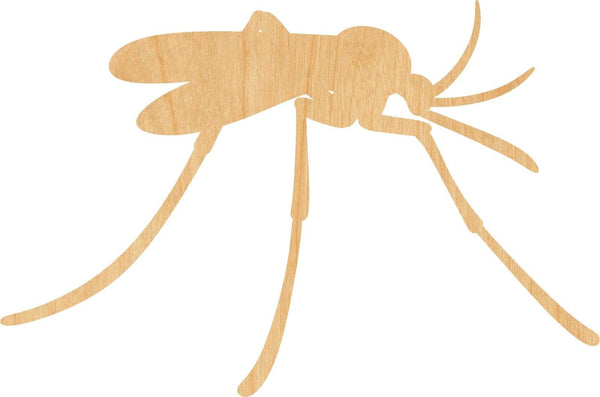 Mosquito Wooden Laser Cut Out Shape - Great for Crafting - Hobbyist - D.I.Y. Projects