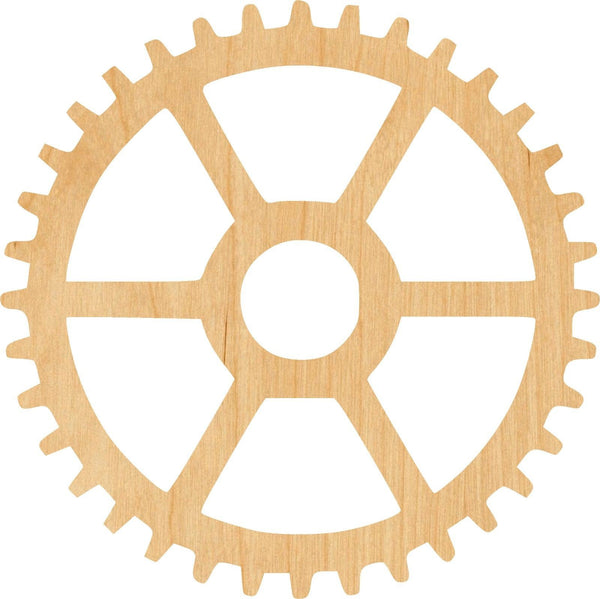 Gear 3 Wooden Laser Cut Out Shape - Great for Crafting - Hobbyist - D.I.Y. Projects