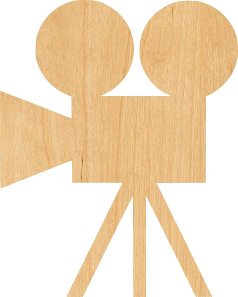 Movie Camera Wooden Laser Cut Out Shape - Great for Crafting - Hobbyist - D.I.Y. Projects