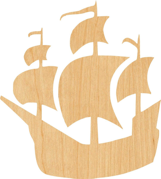 Pirate Ship Wooden Laser Cut Out Shape - Great for Crafting - Hobbyist - D.I.Y. Projects