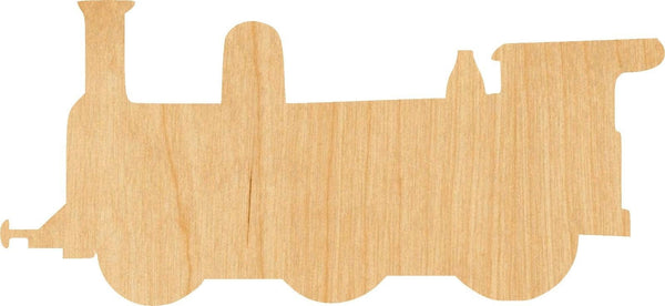 Train 1 Wooden Laser Cut Out Shape - Great for Crafting - Hobbyist - D.I.Y. Projects