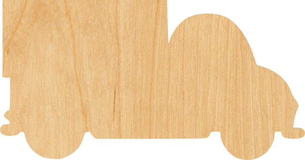 Truck 1 Wooden Laser Cut Out Shape - Great for Crafting - Hobbyist - D.I.Y. Projects